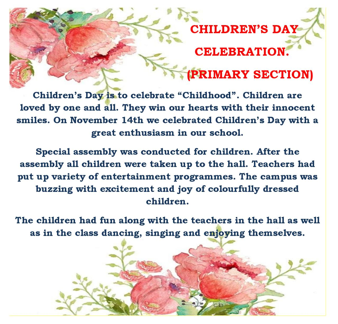 Image result for why do we celebrate children's day