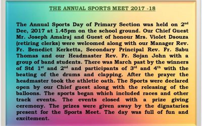 Annual Sports Meet 2017-18 ( PRIMARY SECTION)