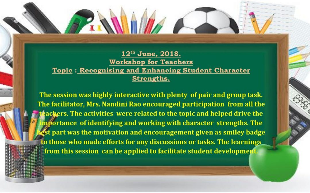 WORK SHOP FOR TEACHERS (PRIMARY SECTION)